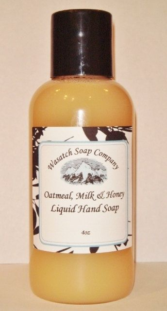 Oatmeal Milk & Honey  Handmade Liquid Soap  - Fragranced with the wonderful scent of honey, with the soothing properties of milk and the healing power of