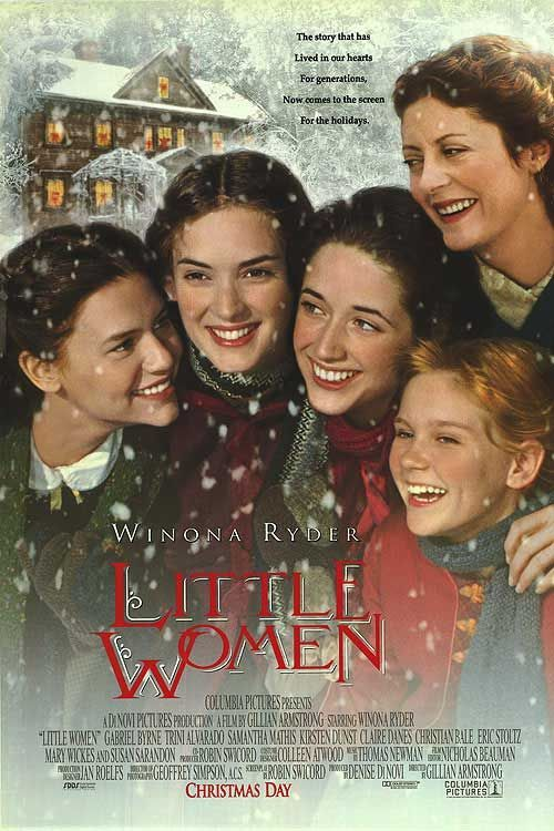 Little Women. 1994. Winona Ryder. Samantha Mathis. Gabriel Byrne. Claire Danes. Christian Bale.