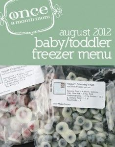 Freezer Baby Food 9-12 Month (Stage 2) Spring Menu - everything you need to make a month's worth of baby food for your baby - grocery lists, recipe cards, labels, instructions and more.