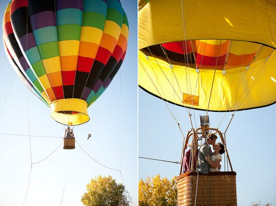 Hot Air Balloon Wedding Reception  I Adrian Marie Photography