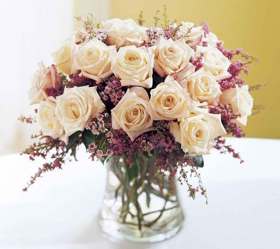 Wedding Flower Arrangements Red, White, Orange and Pink Roses