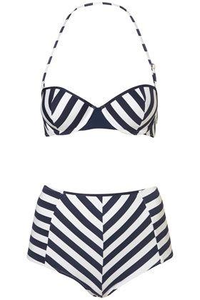 Stripe Push Up Bikini and Pant