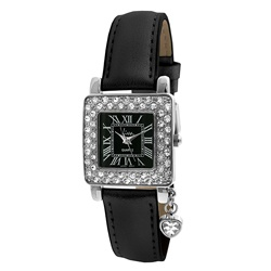 Viva Women's Square Crystal Bezel Watch  $27