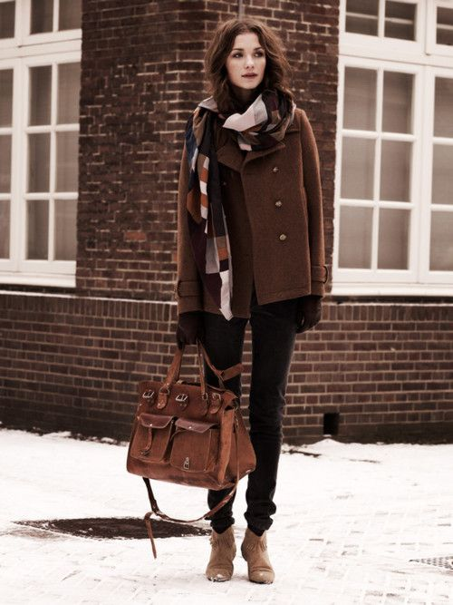 winter style, i just love all the browns
