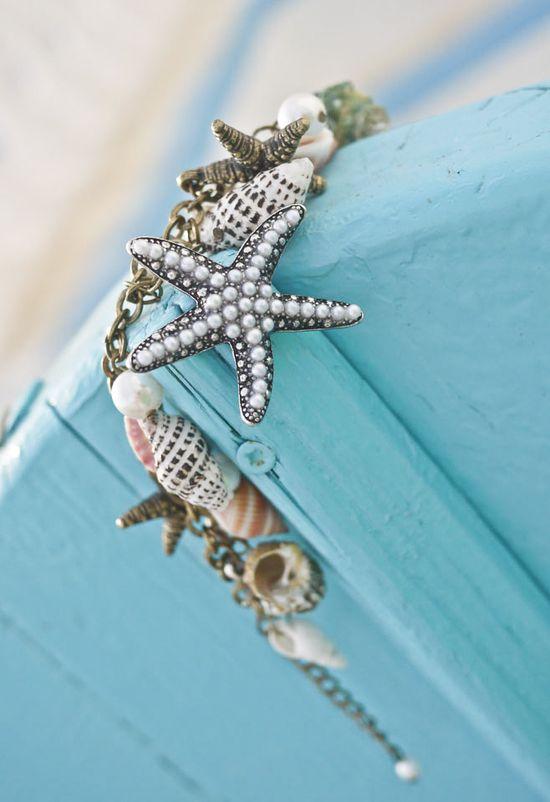 Conch Starfish Pearl Bracelet - Accessory - Retro, Indie and Unique Fashion