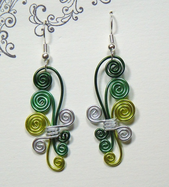 Different kind of spiral earring