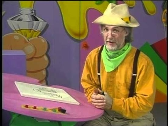 """so I used to watch Pappy all the time,and that Mark guy that held the pen to his head and made rocket sounds going """"draw, draw, draw"""" yep, good ole PBS childrens drawing shows of the 90's how I miss you."""