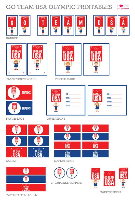 Free Summer Olympics party printables #free #olympics #printables #party