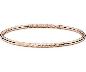 Twist Bangle Bracelet in 14k Rose Gold