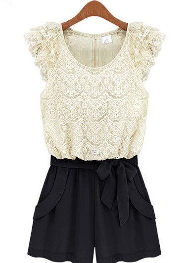 Black + White Lace jumper