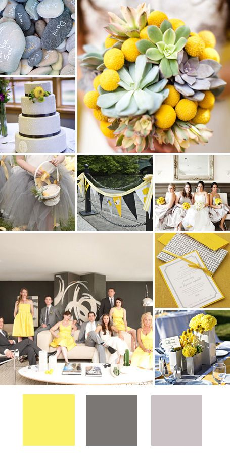 color palettes: yellow, gray, and silver