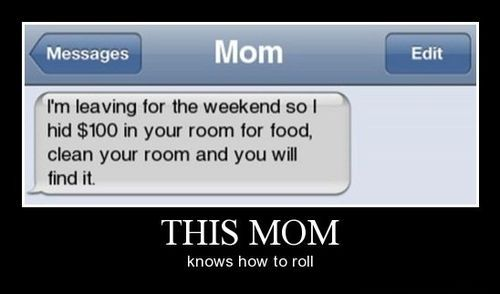 This mom rocks my socks off haha