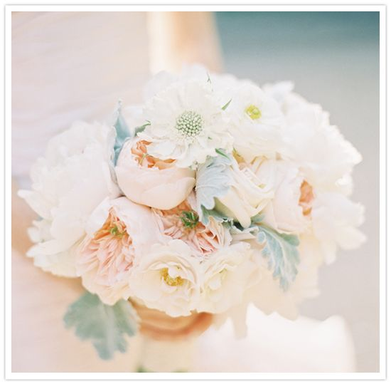 Romantic garden rose bouquet