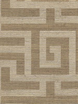 Clarence House Labyrinth-Brown Metallic $285.99 per roll #interiors #decor #brownwallpaper