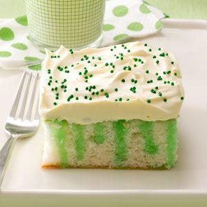 St. Patty's Day Dessert: Wearing O' Green Cake Recipe