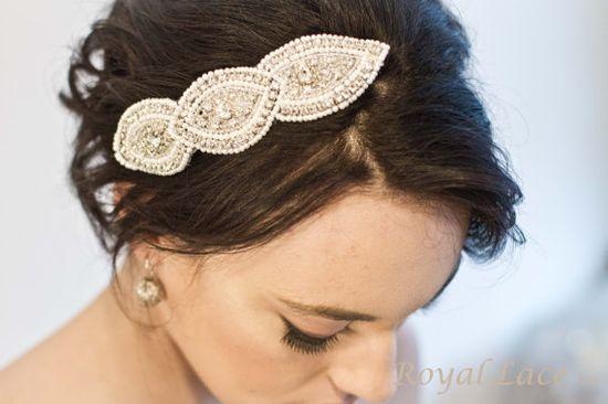 CHARMED wedding, bridal, hair accessory, pearls, crystals & beading