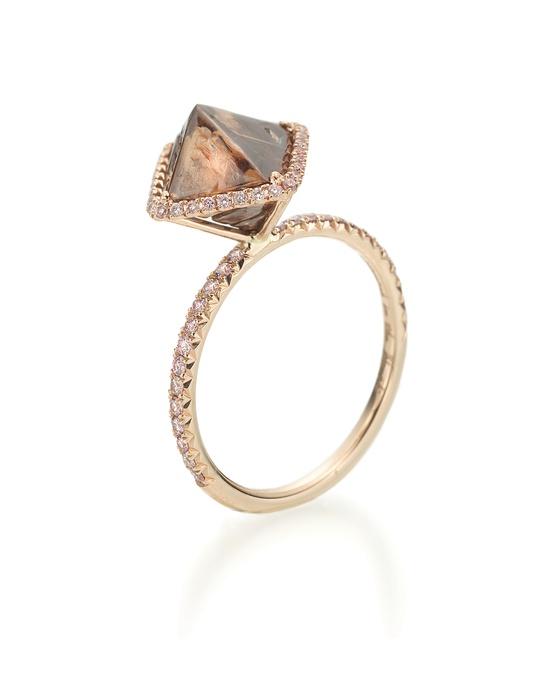 Diamond in the Rough cognac color natural rough diamond // so unique!