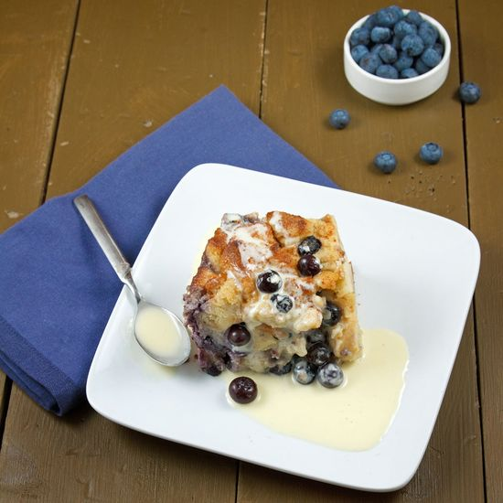 Blueberry Bread Pudding with Creme Anglaise from @Chef Dennis -  {A Culinary Journey}