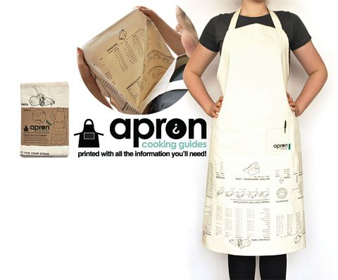 Cooking guide apron, 14,90€