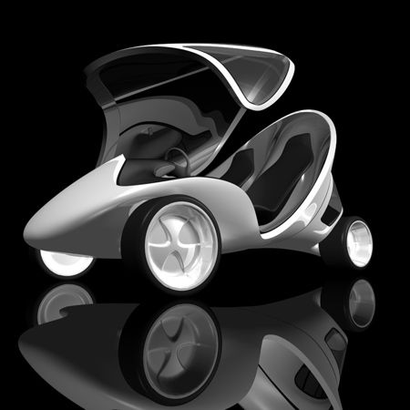 #Architect Zaha Hadid unveiled a three-wheeled concept #vehicle #car ... not in production but looks very cool.