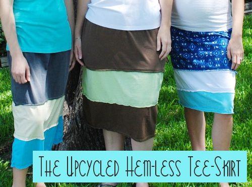 Hemless Tee Skirt