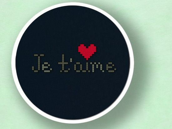 Nothing says love more than some cross stitch :)
