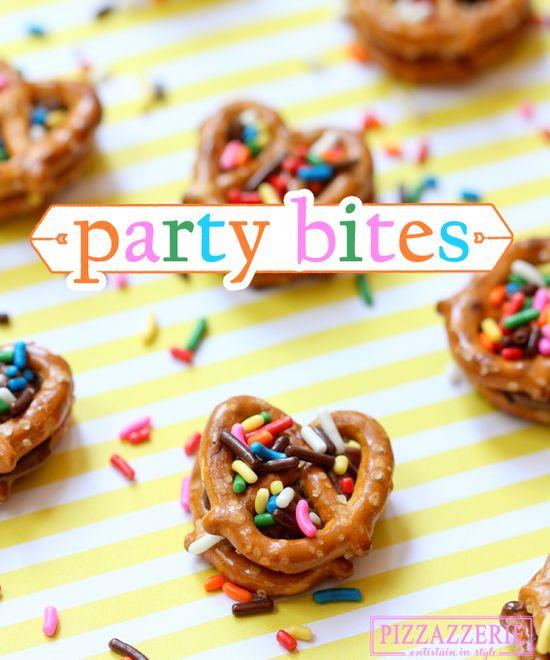 EASY PARTY BITES: Chocolate Peanut Butter Pretzel Bites!