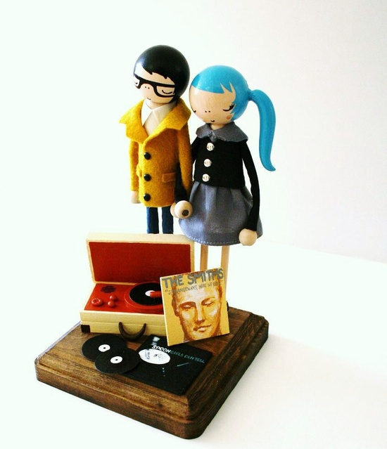 Custom Tunes for Two Wedding Cake Topper by lacerubbish on Etsy