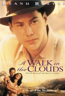 A Walk in the Clouds (1995)  After returning from the war, Paul and a young woman meet on a bus as she's headed home from college to help with the grape harvest and face her Old World domineering dad. The woman has not married but is pregnant and she thinks her father is going to kill her. Paul proposes to pose as her husband to help her face her father. When their passion for each other is finally ignited and explodes, they realize they must overcome all odds to be together.