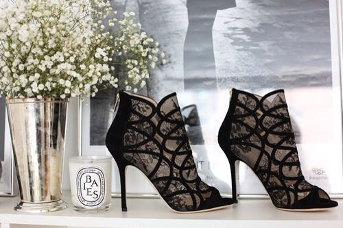 Black lace boots sexy fashion shoes black lace elegant boots
