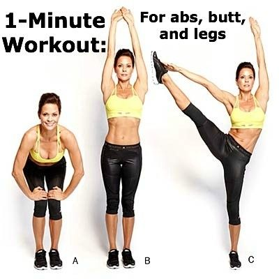 Brooke Burke-Charvet's 1-Minute #Workout for your abs, legs, and butt!