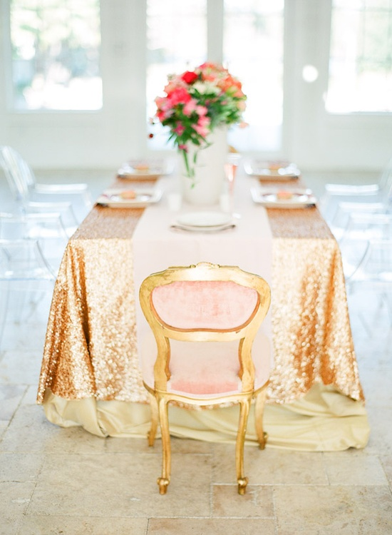 pink and glittery gold accents