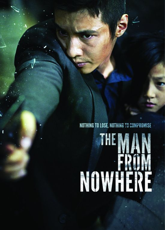 The Man From Nowhere , starring Won Bin.  The film follows the story of a vengeful man who embarks on a murderous rampage when the only person who seems to understand him is taken from him.  South Korea 2010