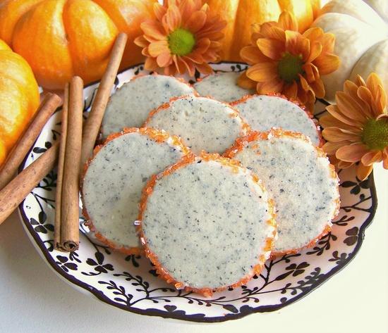 Autumn perfect Pumpkin Spice Tea Cookies. #food #pumpkin #spice #tea #cookies #fall #autumn