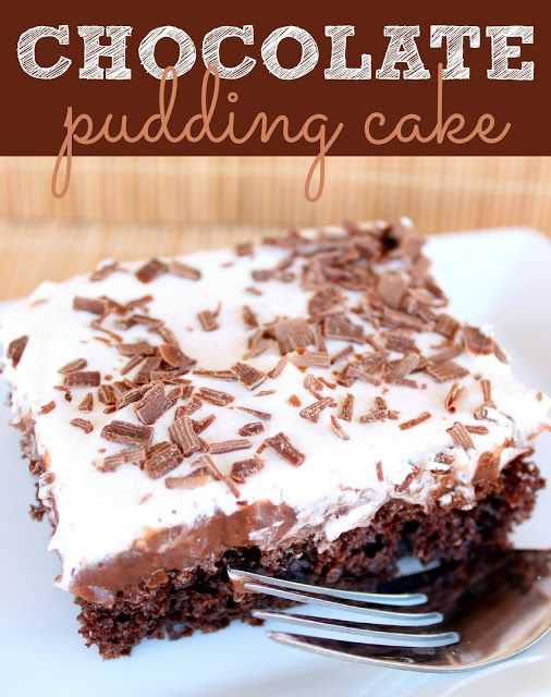 Chocolate Pudding Cake Recipe from SixSistersStuff.com
