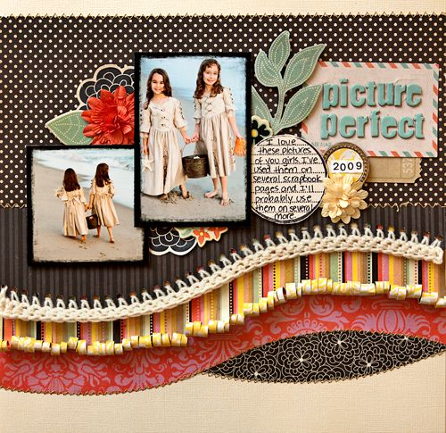 scrapbook LO from Fancy Pants Design
