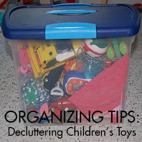 Organizing Children's Toys
