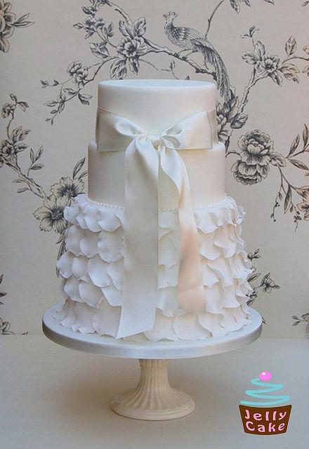 Delicate white ruffles...