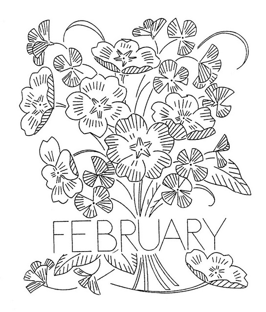 Vintage Flower-of-the-Month Transfer