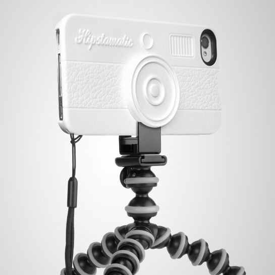 HipstaCase 100 White: Snap on case for iPhone 4 and 4S with a tripod adapter and a wrist lanyard. #iPhone_Case #HipstaCase
