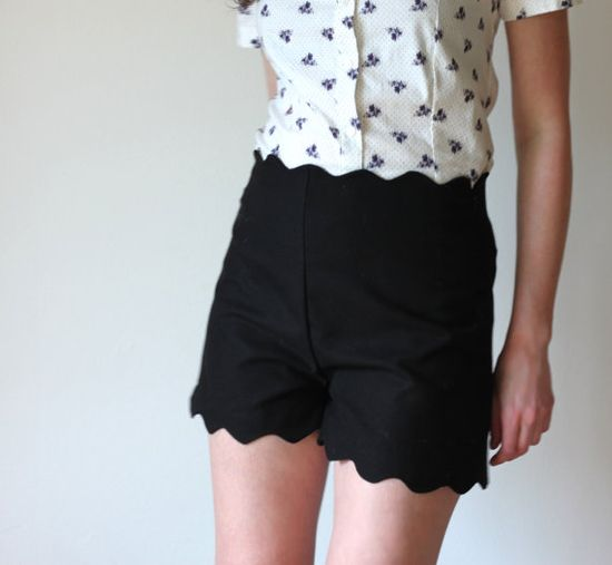 Black vintage inspired shorts   high waisted with by Minxshop, $75.00