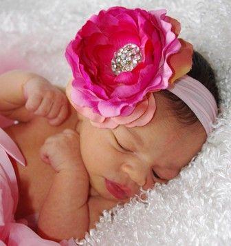 Flower bling headband