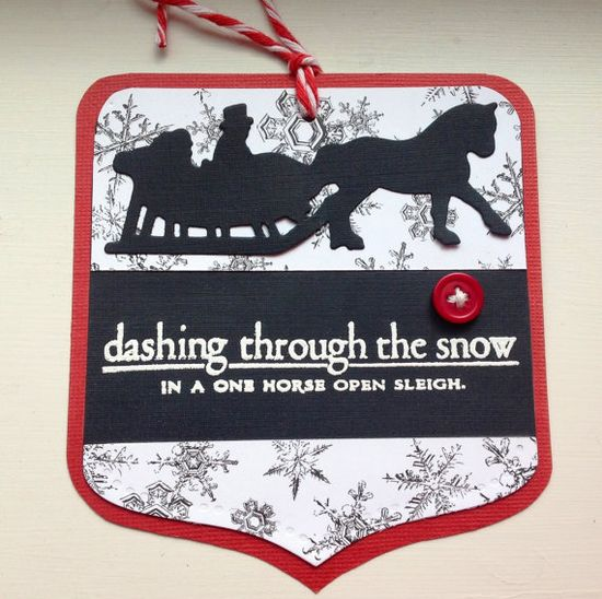 Handmade Gift or Scrapbooking Tags - Dashing Through The Snow