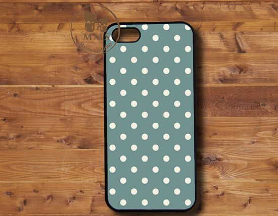 iPhone 5 Case, iPhone 4s Case, iPhone 4 Case Samsung Galaxy S3-Silicone Rubber or Hard Plastic Case, Phone cover-Dot, gray and blue-F028