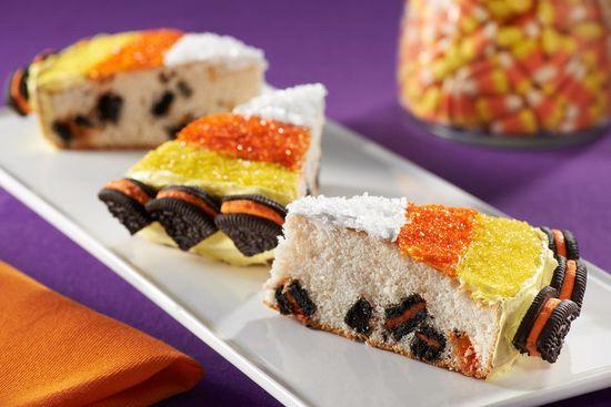 Candy Corn Cakes recipe #halloweenrecipe