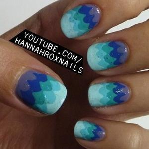 waves  #nails #nailart