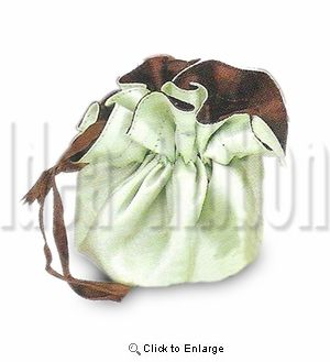 "1- 9"" Dia Round satin double facce satin gift wrapper - Lime & Brown - Pack of 1"