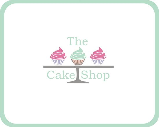 Cupcake logo for a cake shop in pastel shades. $25.00, via Etsy.
