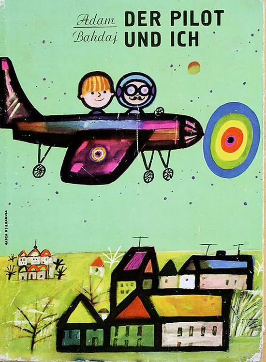 Cutest little plane. (vintage german graphic design)
