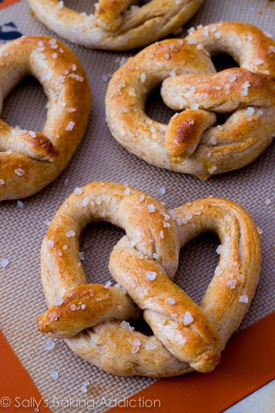 30 minute homemade soft pretzels.